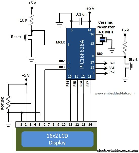 Схема Цифровой измеритель емкости на микроконтроллере 5.